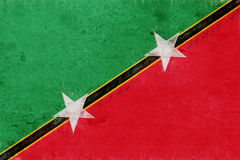 Flag of Saint Kitts and Nevis Grunge Royalty Free Stock Image