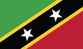Flag of saint kitts and nevis  icon illustration Royalty Free Stock Photo