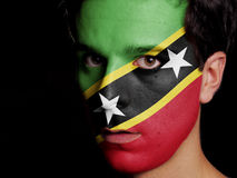 Flag of Saint Kitts and Nevis Royalty Free Stock Photo