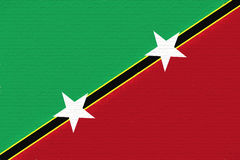 Flag of Saint Kitts and Nevis Wall. Royalty Free Stock Photos