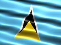 Flag of Saint Lucia Stock Photo
