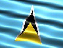 Flag of Saint Lucia Stock Photo