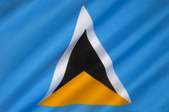 Flag of Saint Lucia - Caribbean Royalty Free Stock Images