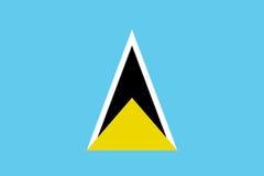 Flag Saint Lucia flat icon Royalty Free Stock Images