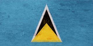 Flag of Saint Lucia Grunge Royalty Free Stock Photo