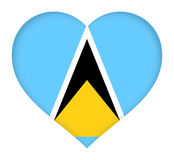 Flag of Saint Lucia Heart Royalty Free Stock Photography