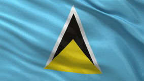 Flag of Saint Lucia - seamless loop Royalty Free Stock Image