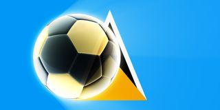 Flag of Saint Lucia soccer Royalty Free Stock Image