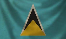Flag of Saint Lucia. Stock Photo