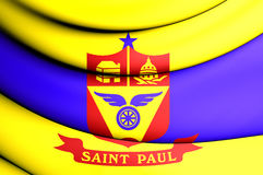Flag of Saint Paul, Minnesota, USA. Royalty Free Stock Photography