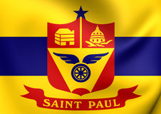 Flag of the Saint Paul, Minnesota, USA. Stock Photography