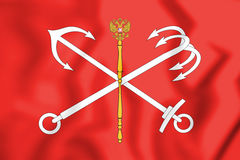 Flag_of_Saint_Petersburg_Russia 皇族释放例证