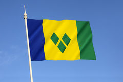 Flag of Saint Vincent and the Grenadines Stock Photography