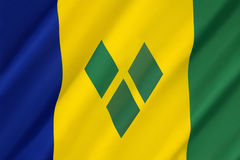 Flag of Saint Vincent and the Grenadines Royalty Free Stock Image