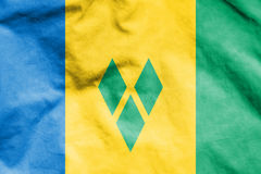 Flag of Saint Vincent and the Grenadines. Royalty Free Stock Image