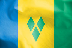 Flag of Saint Vincent and the Grenadines. Stock Images