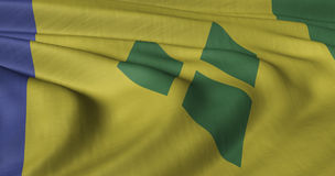 Flag of Saint Vincent and the Grenadines Royalty Free Stock Photo