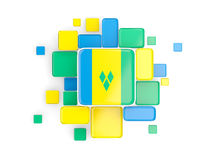 Flag of saint vincent and the grenadines, mosaic background Royalty Free Stock Photos