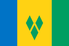 Flag of Saint Vincent and the Grenadines Stock Photos
