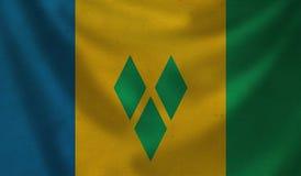 Flag of Saint Vincent. Stock Photos