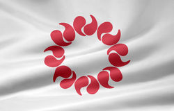 Flag of Saitama - Japan stock image