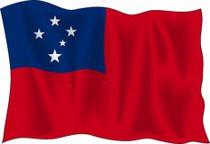 Flag of Samoa Stock Images
