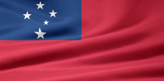 Flag of Samoa stock photography