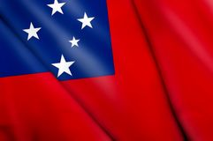 Flag of Samoa. This is an illustration of folded flag Royalty Free Stock Photo
