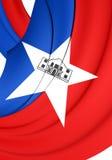 Flag of San Antonio City, Texas. Royalty Free Stock Photos