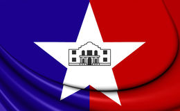 Flag of San Antonio City, Texas. Royalty Free Stock Images