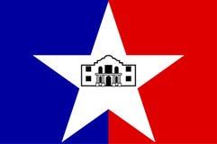 Flag of San Antonio in Texas, USA. Flag of San Antonio in Texas, United States. Vector illustration royalty free illustration