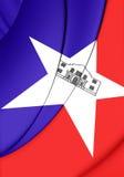 Flag of San Antonio Texas, USA. Stock Image