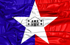 Flag of San Antonio Texas, USA. Stock Photography