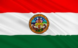 Flag of San Diego County, California, USA. Flag of San Diego County is a county located in the southwestern corner of the state of California, in the United Royalty Free Stock Image