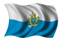 Flag of San Marino Royalty Free Stock Photography