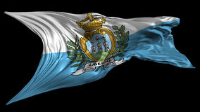 Flag of San Marino stock footage