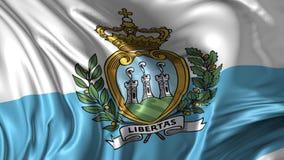 Flag of San Marino stock video
