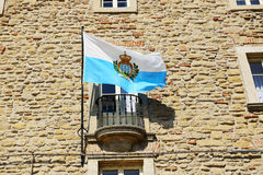 The flag of San Marino Stock Photo