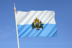 Flag of San Marino - Europe Stock Image