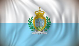 Flag of San Marino. Vector illustration Stock Photography