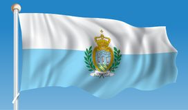 Flag of San Marino. Vector illustration Stock Photo