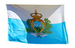 Flag of San Marino isolated on a white background Stock Photos