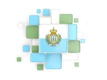Flag of san marino, mosaic background Royalty Free Stock Image