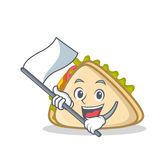 With flag sandwich character cartoon style Stock Images