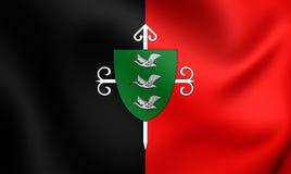 Flag of Santa Cruz City, Chile. Royalty Free Stock Photography