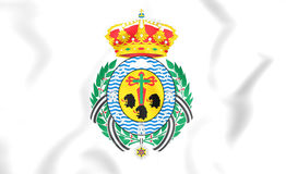 Flag of Santa Cruz de Tenerife City, Spain. Stock Photography