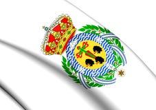 Flag of Santa Cruz de Tenerife City, Spain. Royalty Free Stock Photo