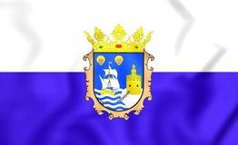 Flag of Santander, Spain. Royalty Free Stock Photo