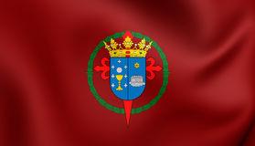 Flag of Santiago de Compostela City Galicia, Spain. 3D Flag of Santiago de Compostela City Galicia, Spain. Close Up Royalty Free Stock Photo