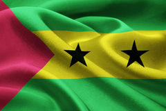Flag of Sao Tome E Principe Stock Photography